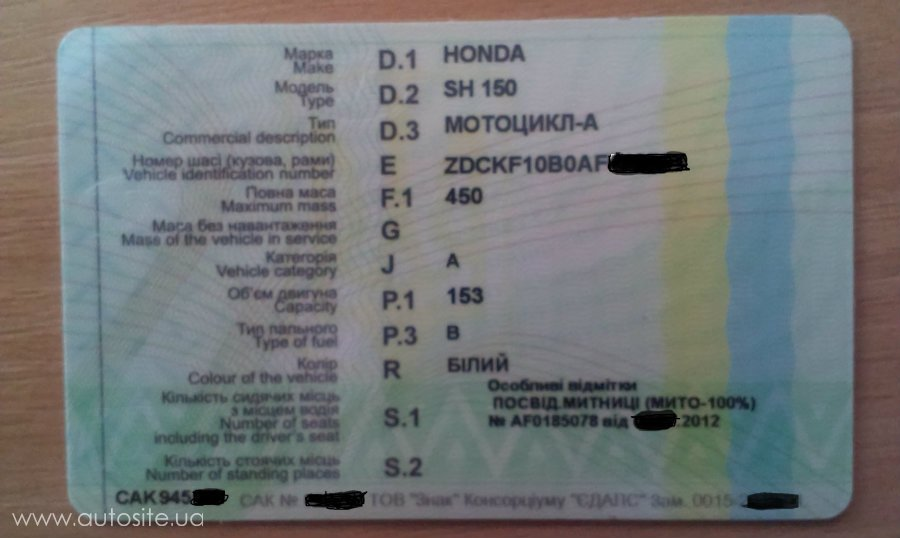 документы на мотоцикл при покупке